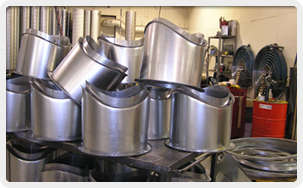 Stainless, Aluminum, Cold Rolled Steel, Sheet Metal, PCD Coated, Sheet Metal Fabrication, Ducts